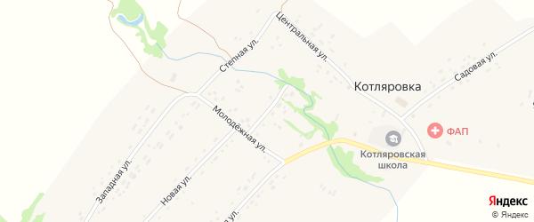 Полевая улица на карте поселка Котляровки с номерами домов