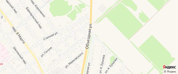 Объездная улица на карте села Поспелихи с номерами домов