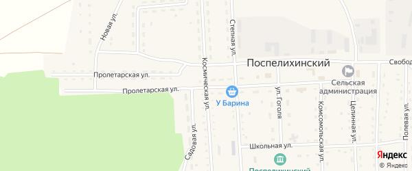 Космическая улица на карте Поспелихинского поселка с номерами домов