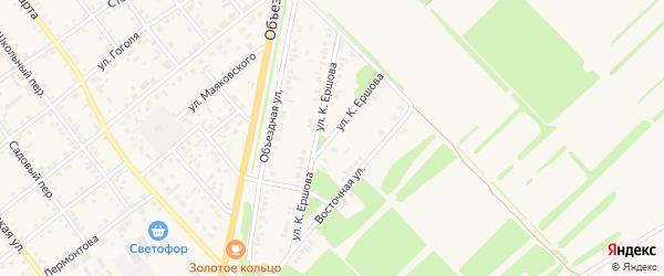 Улица К.Ершова на карте села Поспелихи с номерами домов
