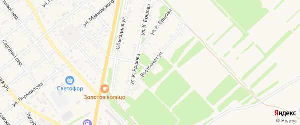 Восточная улица на карте села Поспелихи с номерами домов