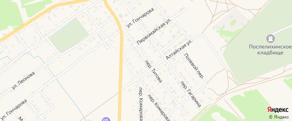 Переулок Титова на карте села Поспелихи с номерами домов