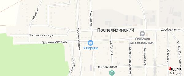 Степная улица на карте Поспелихинского поселка с номерами домов