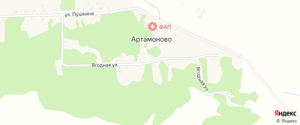 Ягодная улица на карте поселка Артамоново с номерами домов