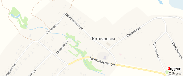 Центральная улица на карте поселка Котляровки с номерами домов