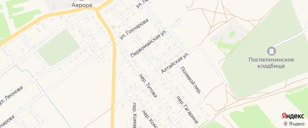 Переулок Гагарина на карте села Поспелихи с номерами домов