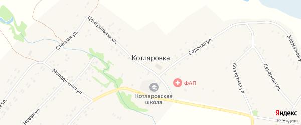 Заречная улица на карте поселка Котляровки с номерами домов