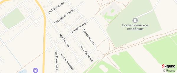 Полевой переулок на карте села Поспелихи с номерами домов