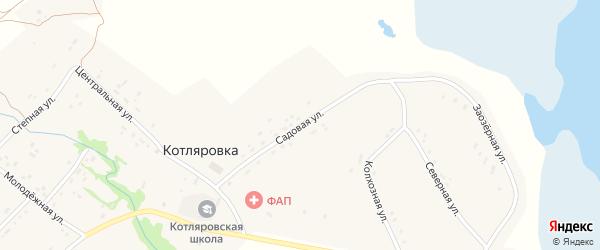Садовая улица на карте поселка Котляровки с номерами домов