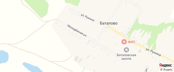 Молодежная улица на карте села Баталово с номерами домов