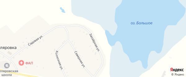 Заозерная улица на карте поселка Котляровки с номерами домов