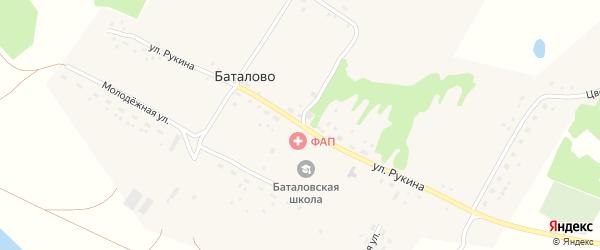 Улица Рукина на карте села Баталово с номерами домов