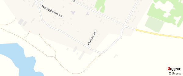 Южная улица на карте села Баталово с номерами домов