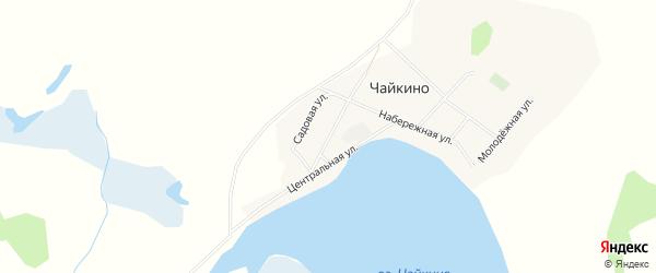 Карта села Чайкино в Алтайском крае с улицами и номерами домов