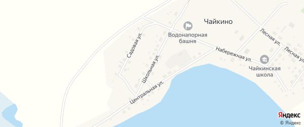Центральная улица на карте села Чайкино с номерами домов