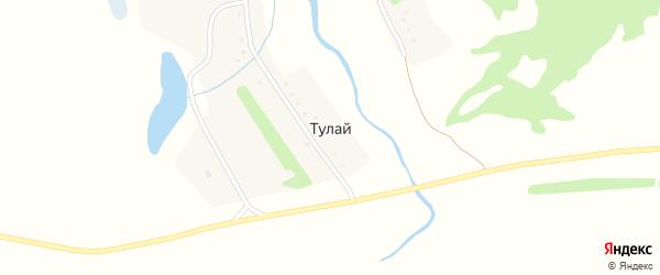 Подгорная улица на карте поселка Тулая с номерами домов