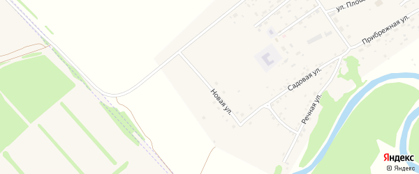 Новая улица на карте поселка Факела социализма с номерами домов