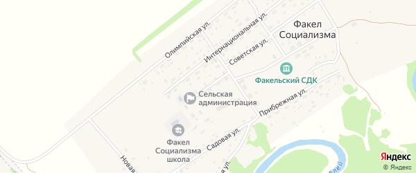 Молодежная улица на карте поселка Факела социализма с номерами домов