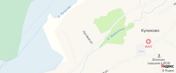 Луговая улица на карте села Куликово с номерами домов
