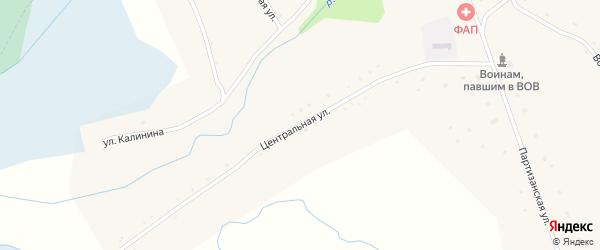 Центральная улица на карте села Куликово с номерами домов