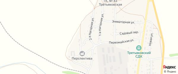 Горная улица на карте станции Третьяково с номерами домов