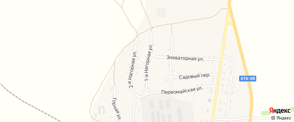 Нагорная улица на карте станции Третьяково с номерами домов