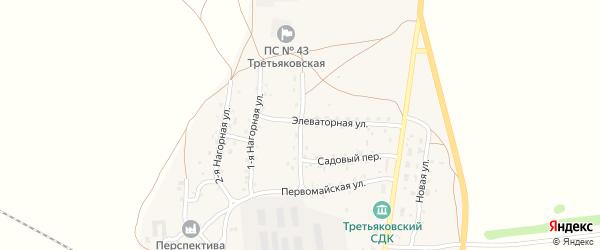 Садовая улица на карте станции Третьяково с номерами домов