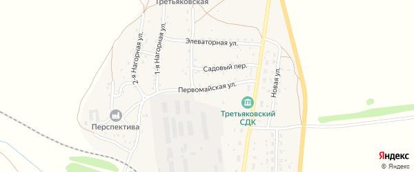 Первомайская улица на карте станции Третьяково с номерами домов