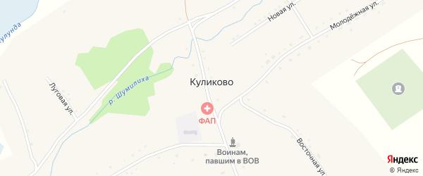 Песчаная улица на карте села Куликово с номерами домов