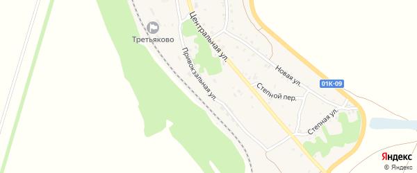 Привокзальная улица на карте станции Третьяково с номерами домов