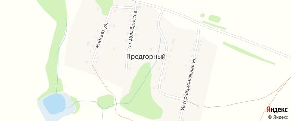 Алтайская улица на карте Предгорного поселка с номерами домов