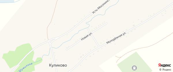 Новая улица на карте села Куликово с номерами домов