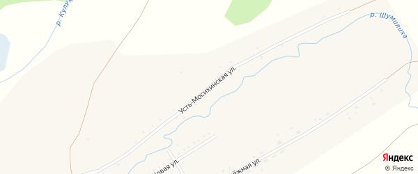 Усть-Мосихинская улица на карте села Куликово с номерами домов