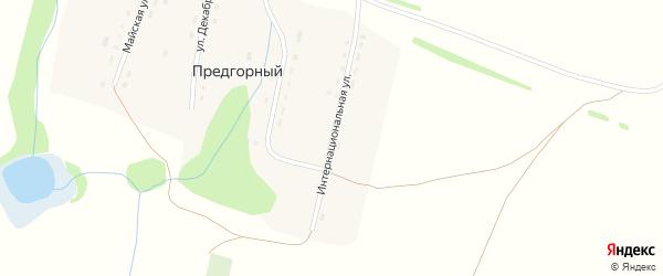 Интернациональная улица на карте Предгорного поселка с номерами домов