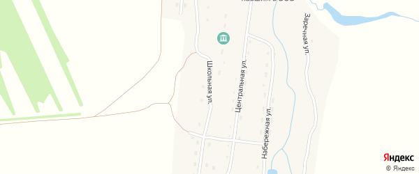 Школьная улица на карте села Никольска с номерами домов