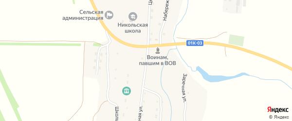 Центральная улица на карте села Никольска с номерами домов