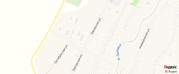 Заводская улица на карте села Таловки с номерами домов