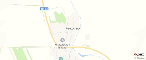 Карта села Никольска в Алтайском крае с улицами и номерами домов