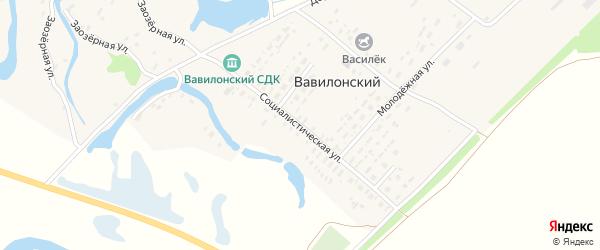 Социалистическая улица на карте Вавилонского поселка с номерами домов
