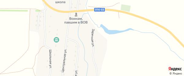 Заречная улица на карте села Никольска с номерами домов