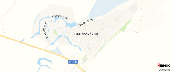 Карта Вавилонского поселка в Алтайском крае с улицами и номерами домов