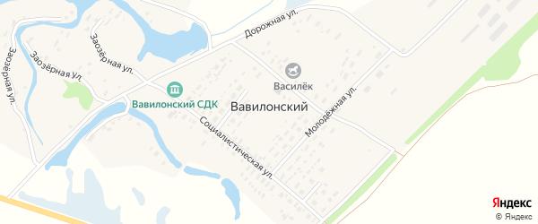 Заозерная улица на карте Вавилонского поселка с номерами домов