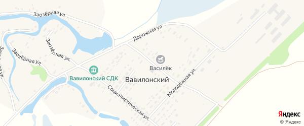 Октябрьская улица на карте Вавилонского поселка с номерами домов