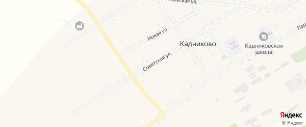 Советская улица на карте села Кадниково с номерами домов