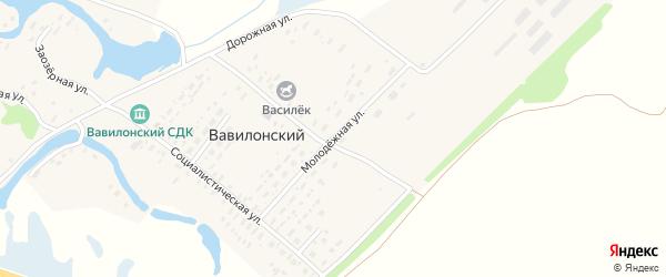 Молодежная улица на карте Вавилонского поселка с номерами домов