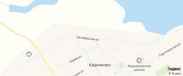 Октябрьская улица на карте села Кадниково с номерами домов