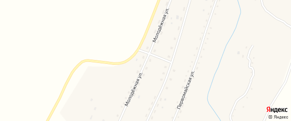 Молодежная улица на карте села Таловки с номерами домов