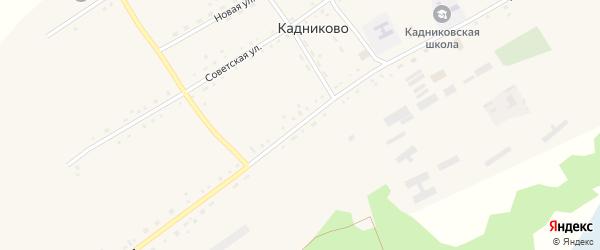 Партизанская улица на карте села Кадниково с номерами домов