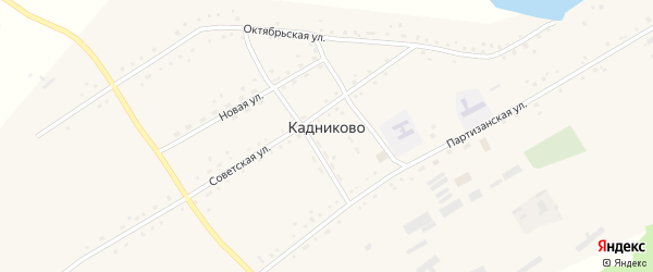 Первомайская улица на карте села Кадниково с номерами домов