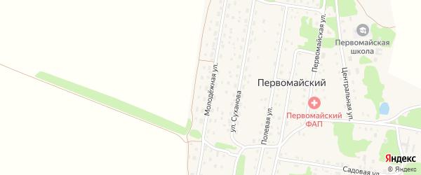 Молодежная улица на карте Первомайского поселка с номерами домов